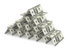 Casa do dinheiro de cartões Imagens de Stock Royalty Free
