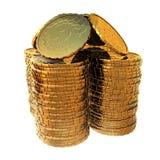 Casa do dinheiro em um fundo branco Fotografia de Stock