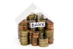 Casa do dinheiro - o banco Imagem de Stock Royalty Free