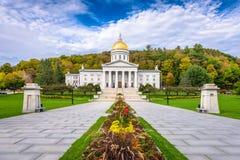 A casa do estado de Vermont em Montpelier, Vermont, EUA imagens de stock royalty free