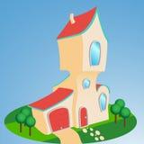 Casa do estilo dos desenhos animados Fotografia de Stock Royalty Free