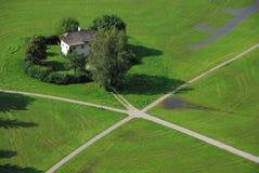A casa do fazendeiro, a vista superior Fotos de Stock