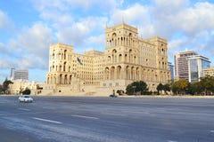 Casa do governo em Baku fotos de stock royalty free