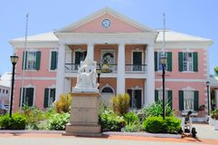 Casa do governo em Nassau em Bahamas Fotos de Stock