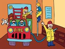 Casa do incêndio Fotografia de Stock Royalty Free
