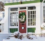 Casa do inverno fotografia de stock royalty free
