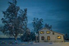 Casa do inverno Imagem de Stock