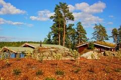 A casa do lago Fotos de Stock Royalty Free