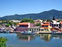 A casa do mar vê Florianopolis Fotografia de Stock Royalty Free