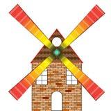 Casa do moinho de vento ilustração royalty free