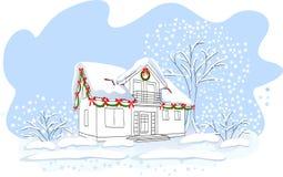 Casa do Natal ilustração royalty free