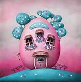 Casa do ovo da páscoa ilustração stock