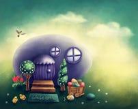 Casa do ovo da páscoa ilustração do vetor
