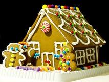Casa do pão do gengibre Fotografia de Stock Royalty Free