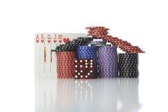 Casa do póquer Imagens de Stock