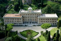 Casa do papa no Vaticano foto de stock