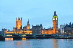 Casa do parlamento e de Ben grande Fotos de Stock Royalty Free