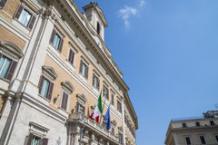 A casa do parlamento italiano Foto de Stock