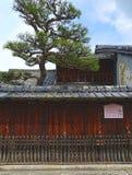Casa do período de Edo, rua de Shinmachi, OMI-Hachiman, Japão Fotos de Stock Royalty Free