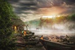 Casa do pescador fotografia de stock royalty free