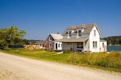 Casa do pescador de Maine imagem de stock