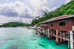 A casa do pescador no mar do Sul da China Imagem de Stock Royalty Free