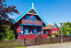 A casa do pescador tradicional em Nida, Lituânia Foto de Stock Royalty Free