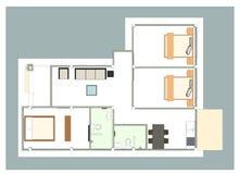 Casa do plano Foto de Stock