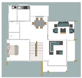 Casa do plano Fotografia de Stock Royalty Free