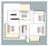 Casa do plano Imagem de Stock