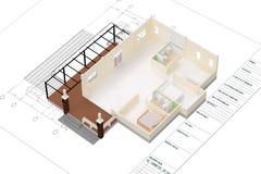 Casa do plano Fotografia de Stock