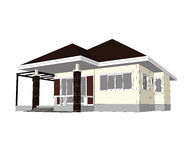 Casa do plano Imagem de Stock Royalty Free