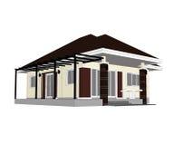 Casa do plano Imagens de Stock Royalty Free
