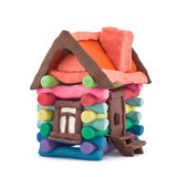 Casa do Plasticine Imagem de Stock Royalty Free