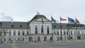 Casa do presidente de Eslováquia video estoque