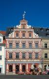 Casa do rebanho de Zum Breiten, Fischmarkt, Erfurt, Alemanha Foto de Stock