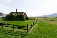 Casa do relvado de Lindarbakki, Bakkagerdi, Islândia Fotografia de Stock Royalty Free