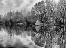 Casa do rio Fotografia de Stock