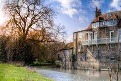 Casa do rio em Cambridge Fotografia de Stock Royalty Free