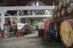 Casa do rum, Porto da Cruz, Madeira / PORTUGAL - April 19, 2017: Rum factory and museum are one of touristic attraction. Casa do rum, Porto da Cruz, Madeira / stock image