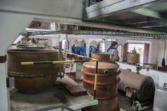 Casa do rum, Porto da Cruz, Madeira / PORTUGAL - April 19, 2017: Rum factory and museum are one of touristic attraction. Casa do rum, Porto da Cruz, Madeira / royalty free stock image