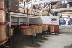Casa do rum, Porto da Cruz, Madeira / PORTUGAL - April 19, 2017: Rum factory and museum are one of touristic attraction. Casa do rum, Porto da Cruz, Madeira / stock images
