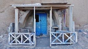 A casa do ` s do pescador em Santorini, Grécia foto de stock