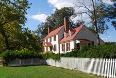 Casa do St. George Tucker - Williamsburg colonial Fotografia de Stock Royalty Free