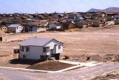 Casa do subúrbio Imagem de Stock Royalty Free