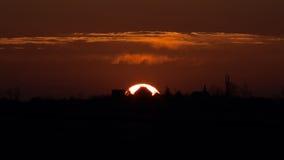Casa do Sun de queda Imagem de Stock Royalty Free