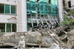 Casa do terremoto Imagem de Stock Royalty Free