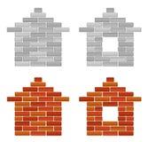 Casa do tijolo ilustração stock