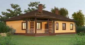 Casa do tijolo Imagens de Stock Royalty Free