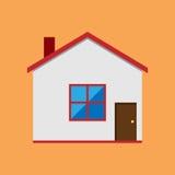 Casa do vetor, estilo liso Fotos de Stock Royalty Free
